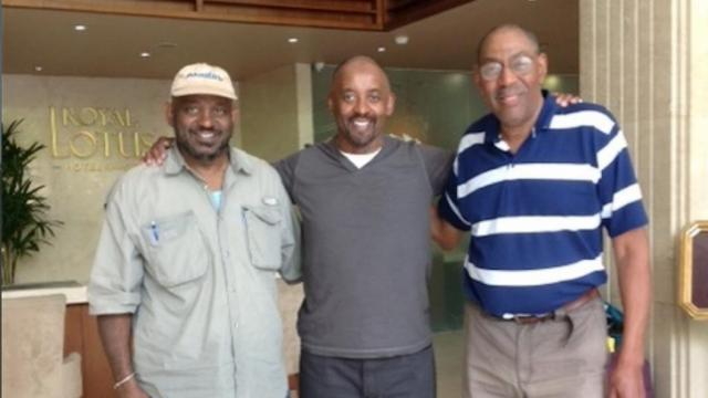 (Left to right) Clarence Williams, Paul Pope and Leonard Peebles in Vietnam. (Photo courtesy of Clarence Williams)