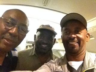 (Left to right) Leonard Peebles, Clarence Williams and Paul Pope in Vietnam. (Photo courtesy of Clarence Williams)