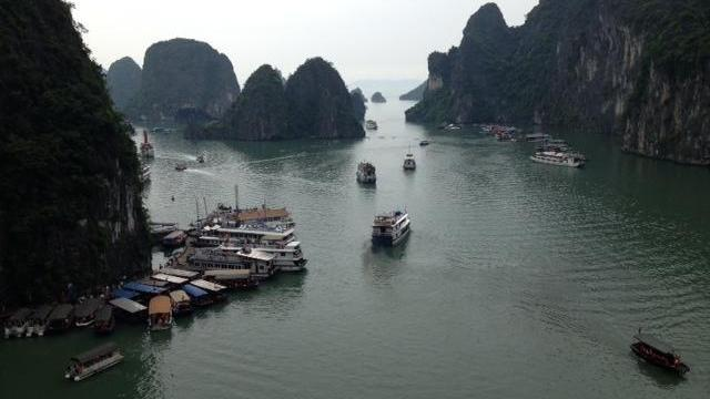 Floating fishing village in Ha Long Bay, Vietnam. (Photo by Clarence Williams)