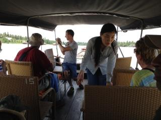 Boating down the Mekong River (Photo by Clarence Williams)