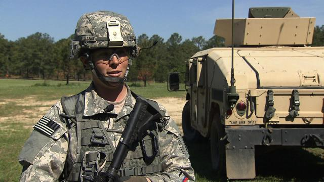 First Lt. Emily Pohl is a platoon leader in the 3/27th Field Artillery Regiment at Fort Bragg.