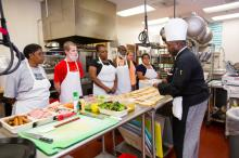 Culinary Job Training prepares adults with severe life challenges for careers in food service during an 11-week hands-on course taught by professional chefs and a social worker.