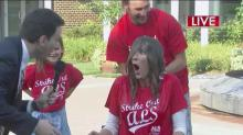 Lynda Loveland takes ice bucket challenge