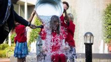 IMAGES: Lynda Loveland takes Ice Bucket Challenge
