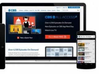 Screenshots of new CBS All Access streaming services for CBS affiliates.