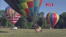 Leyla Santiago takes ride at WRAL Freedom Balloon Fest
