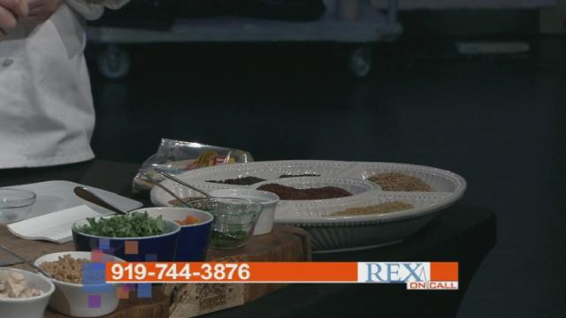 Rex Chef Ryan Conklin fixed this healthy meal featured on Rex on Call Dec. 14, 2015.
