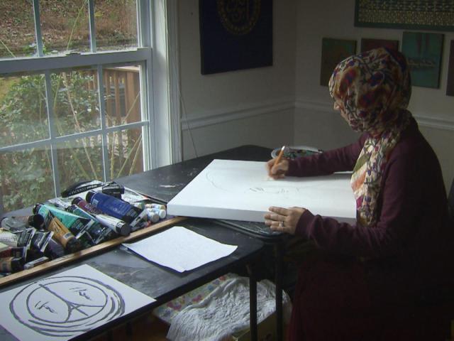 Kulsum Tasnif is a Muslim artist living in Raleigh<br/>Photographer: Richard Adkins