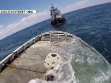RAW: Tugboat sinks quickly into Atlantic