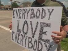 Simple sign pushes powerful, timely message