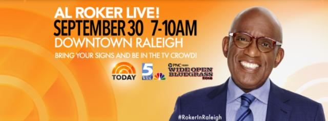 Al Roker in Raleigh