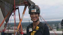 Lynda Loveland goes 'Over the Edge' for Special Olympics
