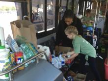 WRAL partners with GoTriangle, United Way and Raleigh-Durham International Airport to fill a bus with supplies to help Hurricane Matthew victims in Nash, Edgecombe, Wilson and Johnston counties.