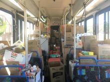 Storm relief bus