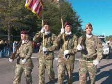 Thousands lined the streets of Fayetteville Saturday, Nov. 5, 2016, to honor World War II veterans at the annual Fayetteville Veterans Day Parade.