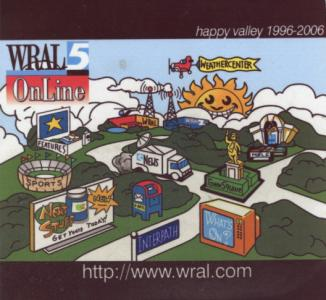 Happy Valley, the original WRAL web design