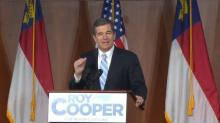 Cooper to be sworn in as governor  shortly after midnight