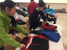 Coats for the Children sorting