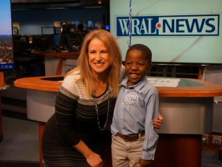 WRAL welcomed Mac Hogstrom and family to the WRAL station on Wednesday, along with his wish team from Make-A-Wish Eastern North Carolina. Mac's wish to ride in a helicopter was revealed, and he was ecstatic to learn he will be riding in Sky 5 on Jan. 23. Mac also toured the station, opened a few Make-A-Wish gifts and watched a safety video to prepare for Monday's ride. He also caught a glimpse of Sky 5 landing on WRAL's roof.