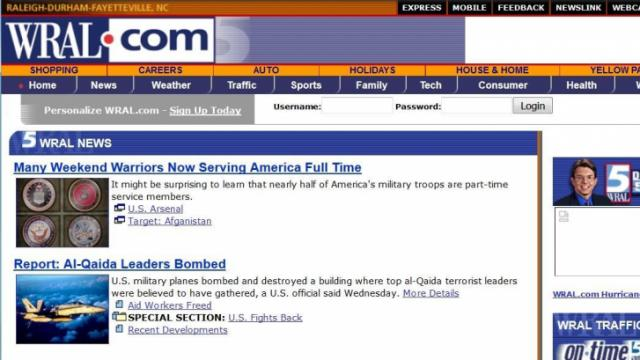 WRAL.com in 2001
