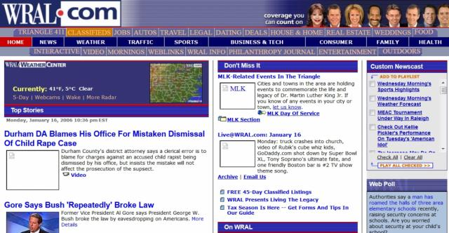 WRAL.com in 2006