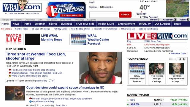 WRAL.com in 2011