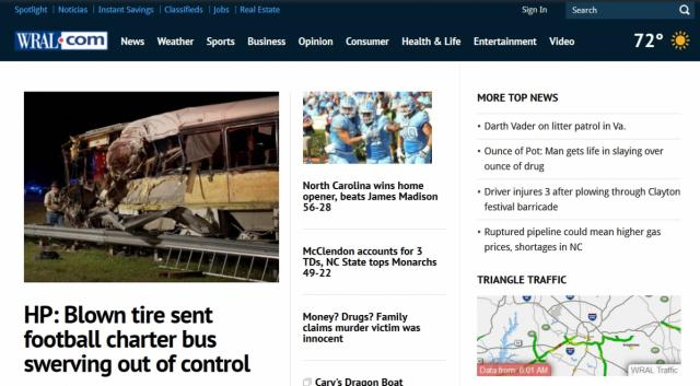 WRAL.com in 2016