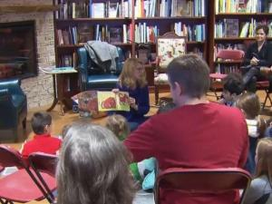 NC first lady Kristin Cooper hosts family story session