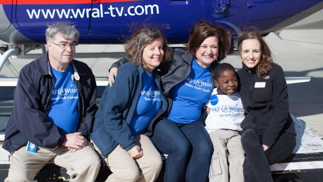 Mac lands at RDU after wish ride