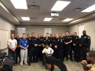 The Garner Police Department added a special new recruit to its ranks Saturday. The Department and Make-A-Wish Eastern North Carolina named 9-year-old Khamari Campbell an honorary Garner police officer.