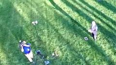 The view from above: Drone5 over Greg, WRAL Azalea Garden
