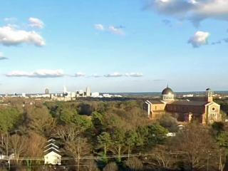 Drone5 gets a view over the new Raleigh cathedral and skyline on Feb. 24, 2017.