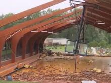 Have you seen this video? Yadkin school damaged, California landslide, officer rescues fawn
