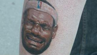 Have You Seen This Video? Man gets 'crying Lebron' tattoo