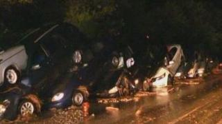 Have You Seen This Video? Multi-vehicle pile up 'stacks'...