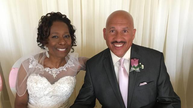 Gilbert and his new bride Carolyn Baez