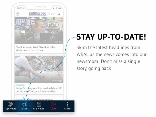 For the true news junkies, the WRAL News app also allows users to browse the latest news as it comes into the WRAL newsroom going back a full 24 hours.