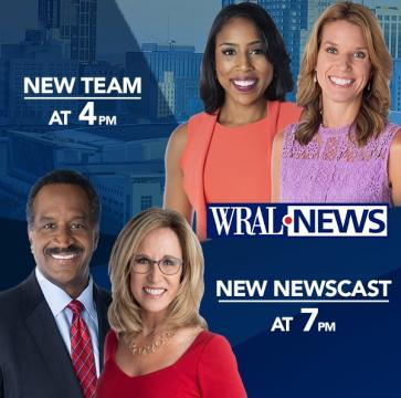 Lena Tillett joins Kathryn Brown anchoring WRAL News at 4 p.m. New WRAL News at 7 p.m. has fast-paced, hard news focus