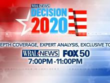 Decision 2020 coverage on WRAL and FOX 50