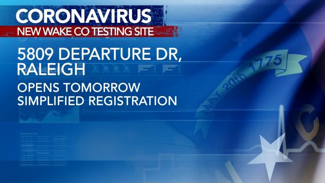 Wake County adds new site for free COVID testing