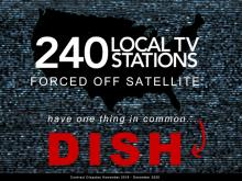 DISH forced blackouts on 240 local TV stations