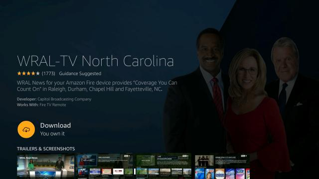 WRAL streaming app for Fire TV
