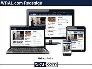 WRAL.com redesign shown on multiple devices