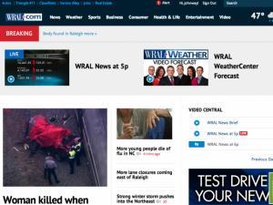 New WRAL.com homepage