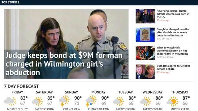 WRAL released an update to its popular news app that makes it easier to read stories, watch videos, scan headlines and swipe through slideshows on iPads and Android tablets.